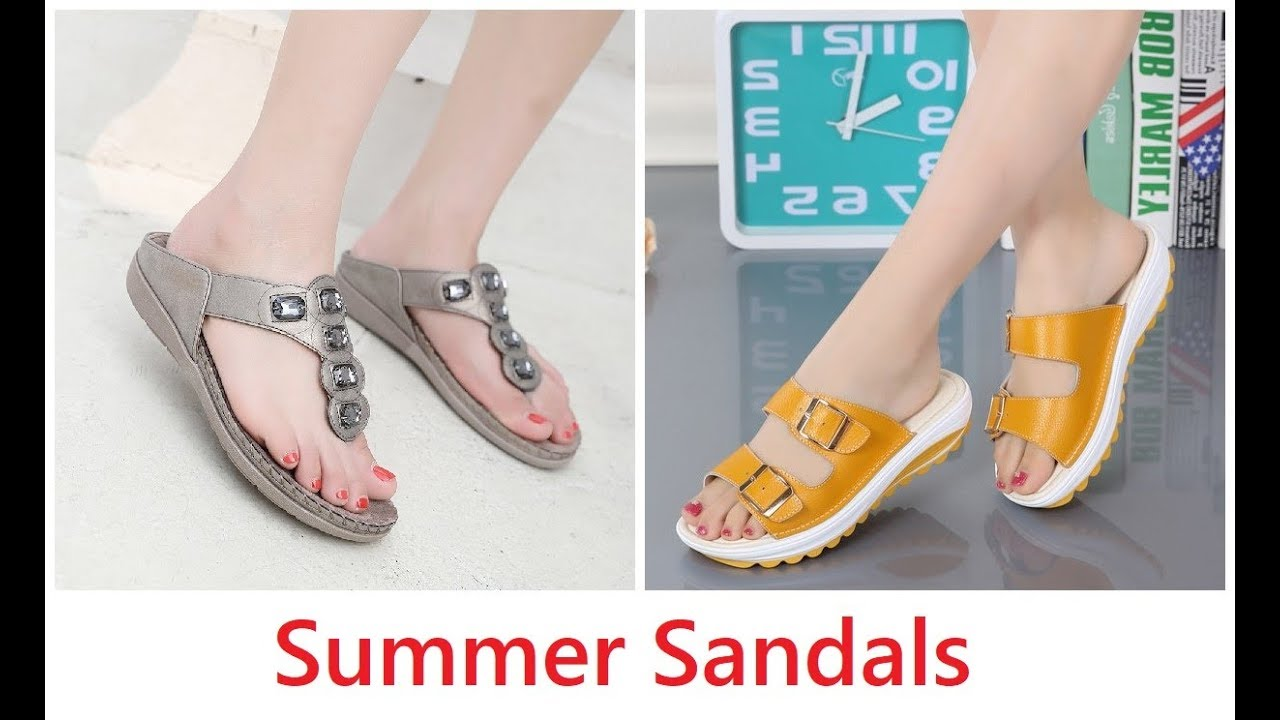 Youtube 20 2019 Shoes Footwear Women Collection newchic Summer Sandals EDH29I