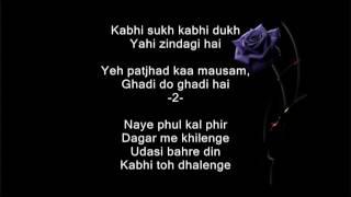 Kahan Tak Ye Man Ko Andhere Chalenge - Baton Baton Meiin - Full Karaoke