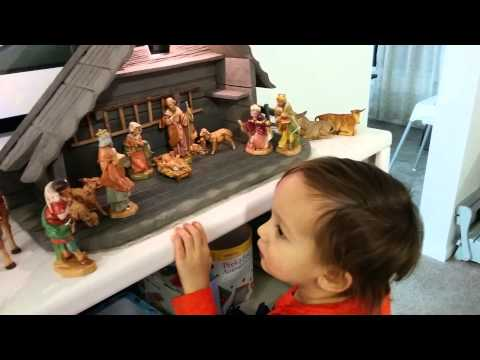 how to set up a nativity scene