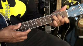 Guitar Chord TABS Tutorial In Style Of Seal Batman Forever EricBlackmonMusicHD
