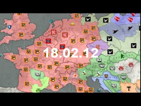 Браузерная-онлайн игра Освобождение Европы. Военно-экономическая стратегия - видео обзор
