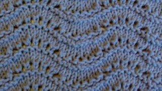 Волнистый ажурный узор Вязание спицами Видеоурок 87