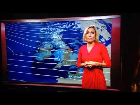 Rachel Mackley BBC South East Today Weather News faints live on air
