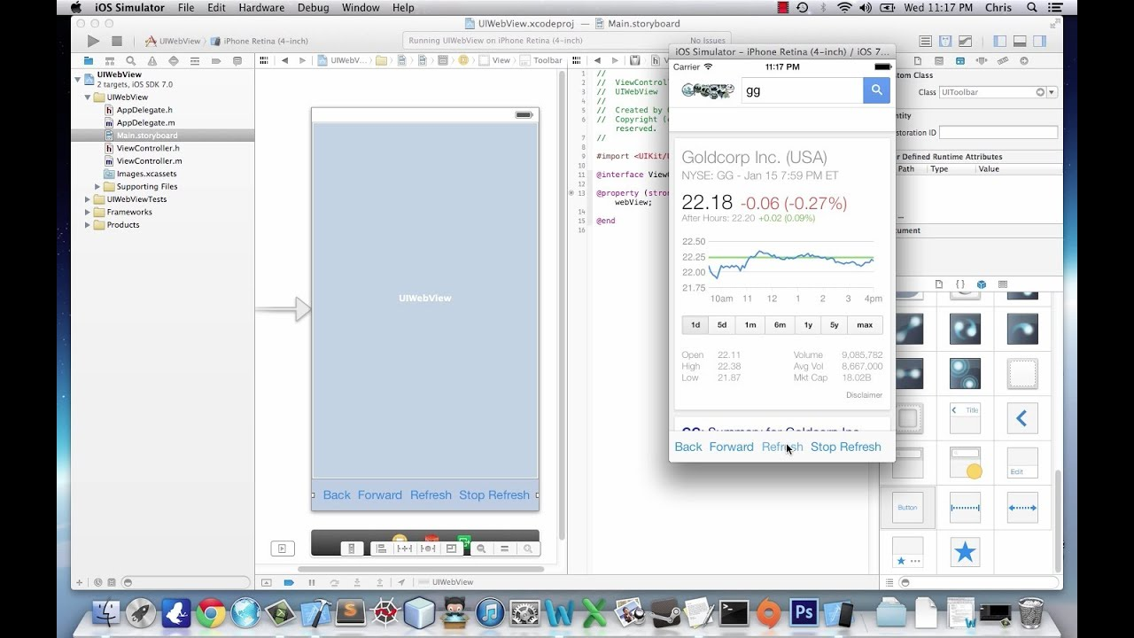 iOS Application Development Tutorial 7: UIWebView in Xcode 5