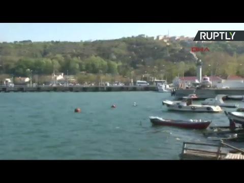 Un navire de guerre russe coule près du détroit du Bosphore après une collision avec un autre bateau