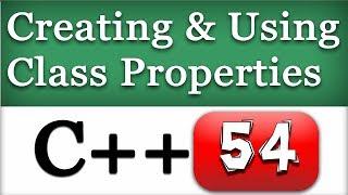 C++ OOPS Video Tutorials for Beginners   Class Properties, Methods, Members