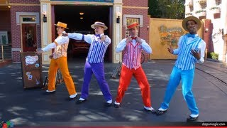 Dapper Dans Full Set With Boy Band Medley - Main Street Firehouse - Disneyland, USA