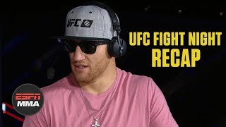 Justin Gaethje on Donald Cerrone win, Conor McGregor fight | UFC Fight Night Post Show | ESPN MMA