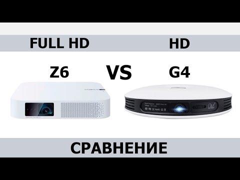 Xgimi Z6 Vs TouYinger G4 СРАВНЕНИЕ ПРОЕКТОРОВ Full HD DLP Vs HD DLP