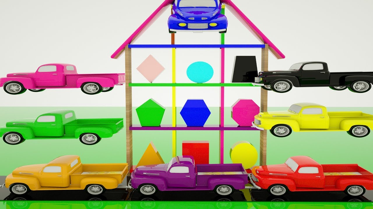 Learn Color Toy Car For Kids Learn Shapes And Colors