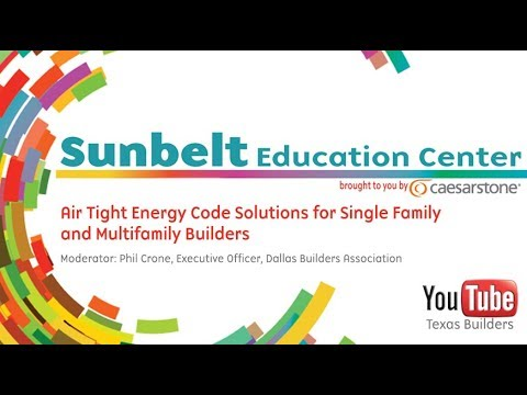 Air Tight Energy Code Solutions for Single Family and Multifamily Builders