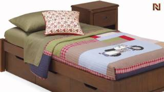 Lea 906-923 3/3 Twin Platform Bed End From Dillon