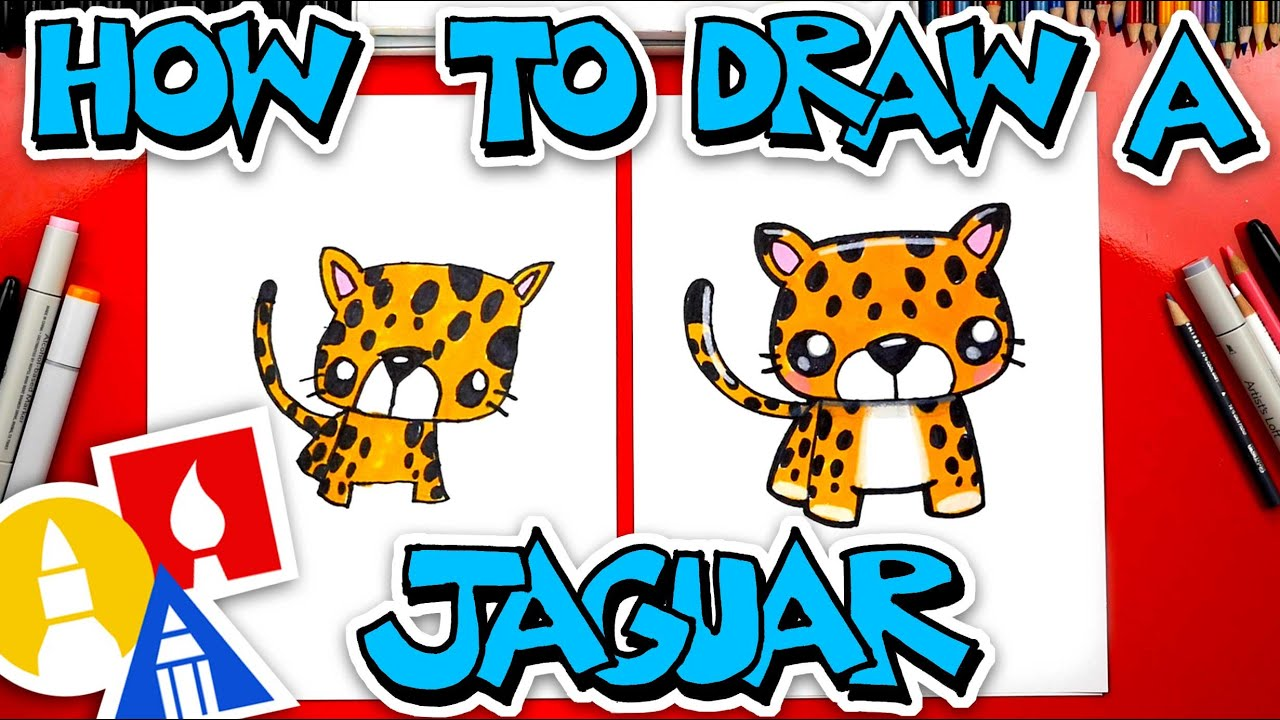 How To Draw A Cartoon Jaguar Stayhome And Draw Withme Youtube