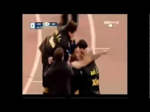 Giorgos Katidis celebra gol con saludo nazi