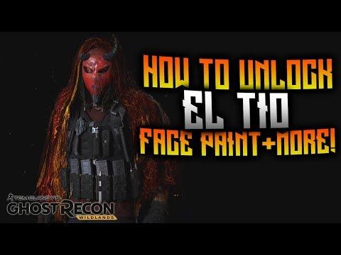 Ghost Recon Wildlands - How To Unlock El Tio Face Paint!