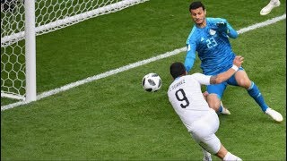 SUAREZ SAVED BY GIMENEZ WINNER - EGYPT 0-1 URUGUAY