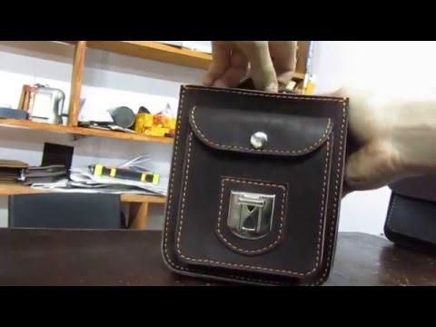 Видеообзор модной мужской барсетки из кожи ETERNO