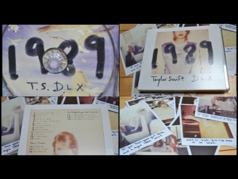 '1989' Taylor Swift Deluxe Edition Album Unboxing thumbnail