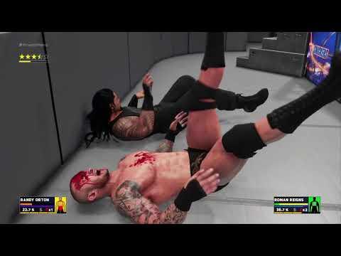 WWE 2K18 Roman Reigns vs  Randy Orton...