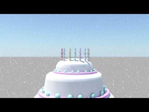 Happy birthday wishes 3d animation in maya