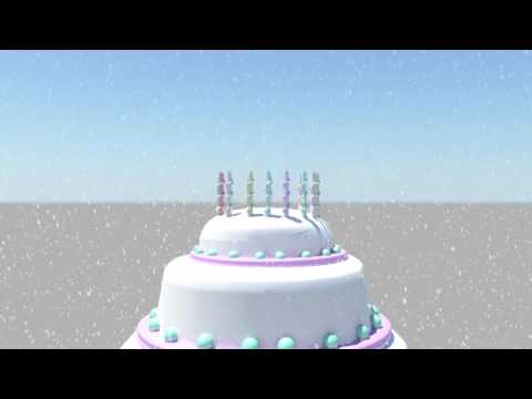Happy birthday wishes 3d animation in maya