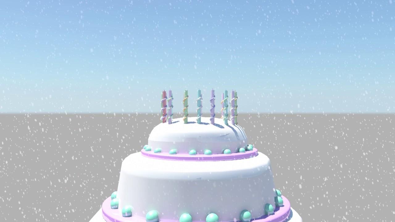 Happy birthday wishes 3d animation in maya YouTube