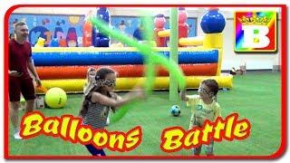 Balloons Battle dintre  Bogdan`s Show vs Jasmina Show la Panda Kids
