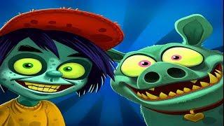 Семейка зомби Продолжаем Проходить Сельские Равнины игровой мультик про зомби Новые серии 4