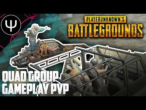 PLAYERUNKNOWN'S BATTLEGROUNDS — Quad Group Gameplay PvP!