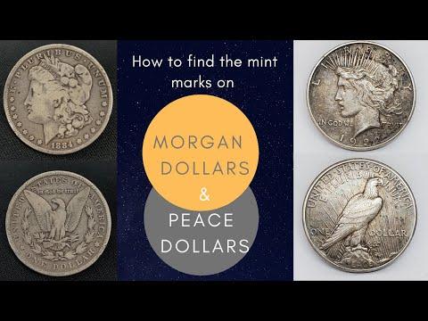 How To Find Silver Dollar Mint Marks   Morgan Dollar   Peace Dollar