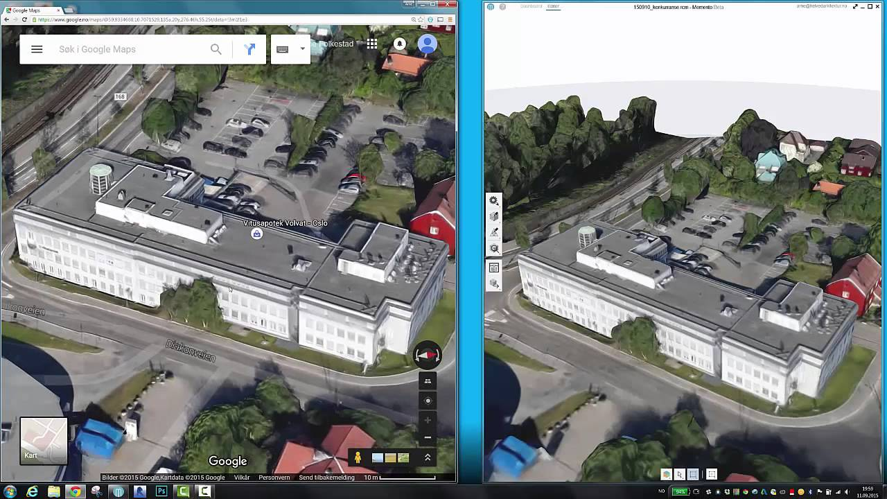 Combining Google Maps Photogrammetry And Pointcloud Into Revit - Drone maps google