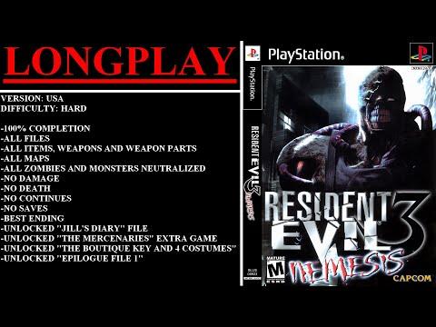 Resident Evil 3 Nemesis Playstation Longplay Hard