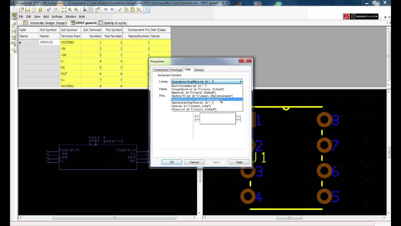 Designspark Pcb Tutorial Editing Modelsource Downloads Part 3 Youtube