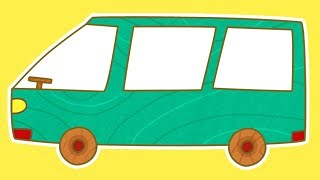 A Car Toons Minivan. Cars for Kids & Cartoons for Children