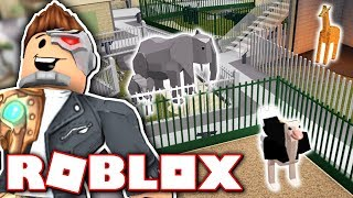 MAKING MY OWN ZOO!! *ALL ANIMALS!* (Roblox Zoo Tycoon)