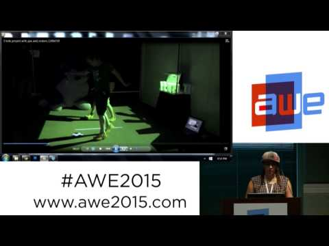 Meghan Athavale (CEO, Lumo Play) Projection-based Augmented Reality games at AWE 2015