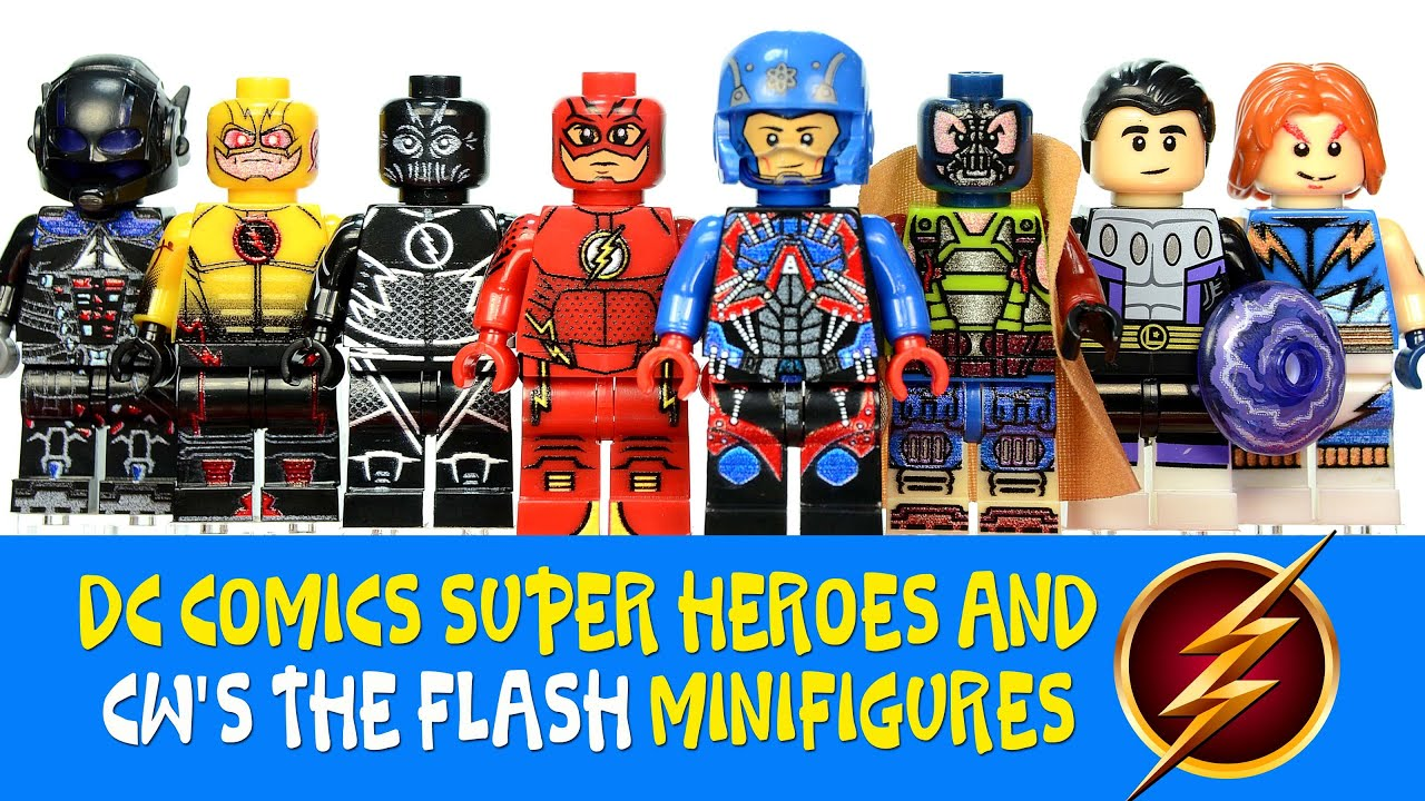 Marvel Comics Superheroes The Flash CW Lego Moc Minifigure custom
