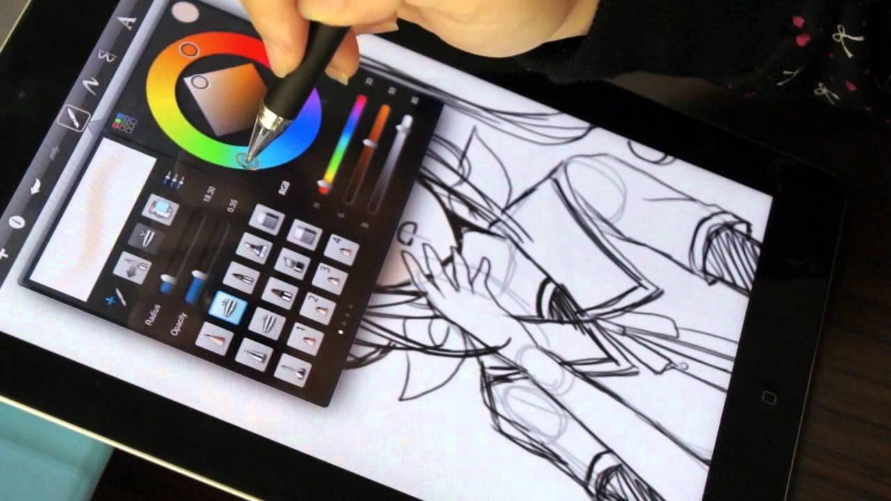 電容式觸控筆 P507 Accu Pen Drawing On Apple Ipad2 Youtube