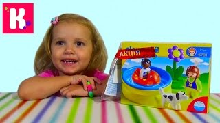Плеймобил бассейн с собачкой и фигурками играем Playmobil set swimming pool and dog figurs