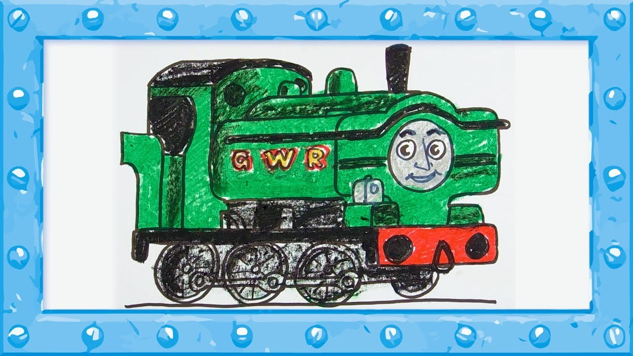 How To Draw Duck Engine Thomas And Friends Drawing And Colors Learning Video