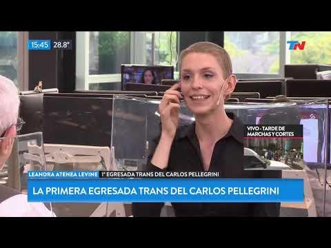 Leandra, la primer egresada trans del Carlos Pellegrini