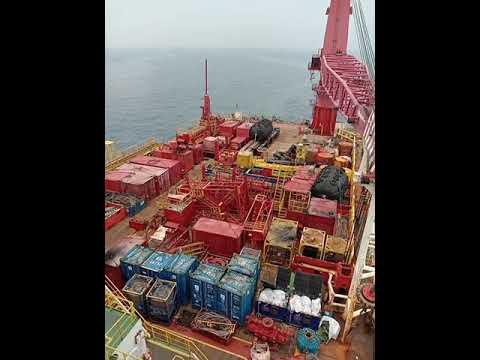 Offshore life permandangan demob ke ksb towing SS2 Work barge 09 09 2019 Part 2