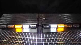 moss 185t windshield visor mount led light bar
