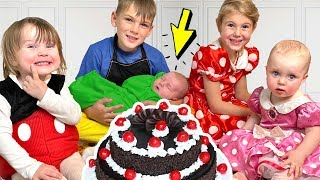 Four Kids and Dad are preparing a Surprise for Alex's Birthday - Youtube
