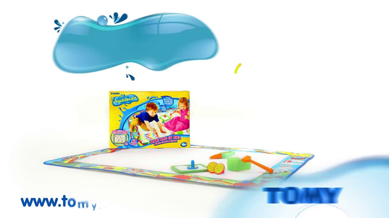 Tomy Aquadoodle Maxi Tapis Arc En Ciel Pub Tv 10s Youtube