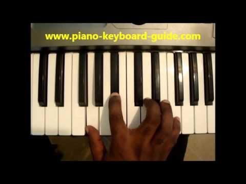 How To Play Gmin7 G Minor Seven Gm7 Chord On Piano Keyboard