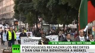 Los portugueses recuerdan a Merkel que