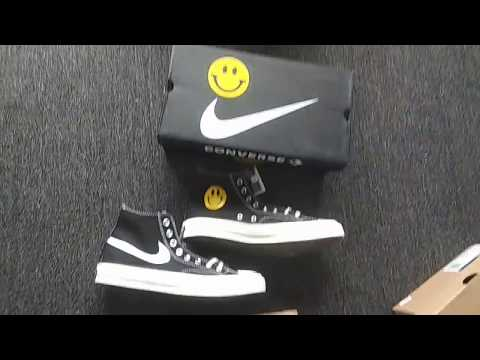 Custom Smiley Face Converse 1970's x Nike Swoosh Logo