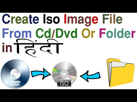 how to create iso image file from cd/dvd or folder in hindi/urdu by free knowledge