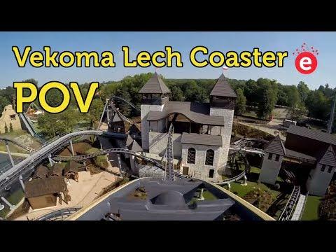 Lech Roller Coaster Front Seat POV @ Legendia in Chorzow, Poland